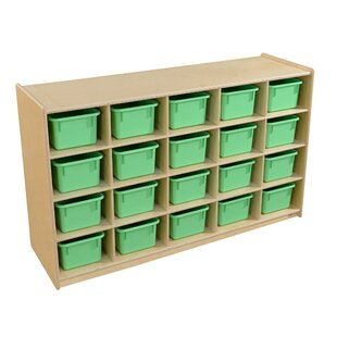 Affordable 20 Compartment Cubby with Trays By Wood Designs