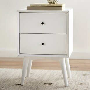 Compare prices Parocela 2 Drawer Nightstand ByLangley Street