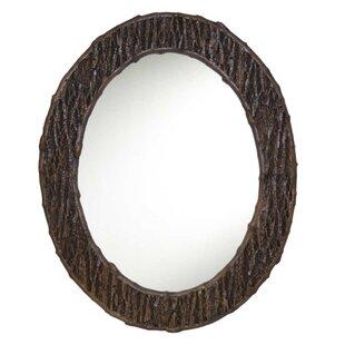 Hickory Manor House Oval Tree Bark Wall Mirror