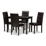 Rosenberry Modern and Contemporary 5 Piece Dining Set by Latitude Run®