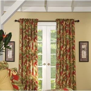 Captiva Nature/Floral Semi-Sheer Rod Pocket Curtain Panels (Set of 2)
