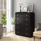 Yarmouth 5 Drawers Standard Dresser by Everly Quinn