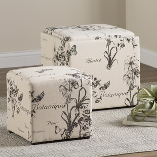 Compare prices Laureole Storage Ottoman ByLark Manor