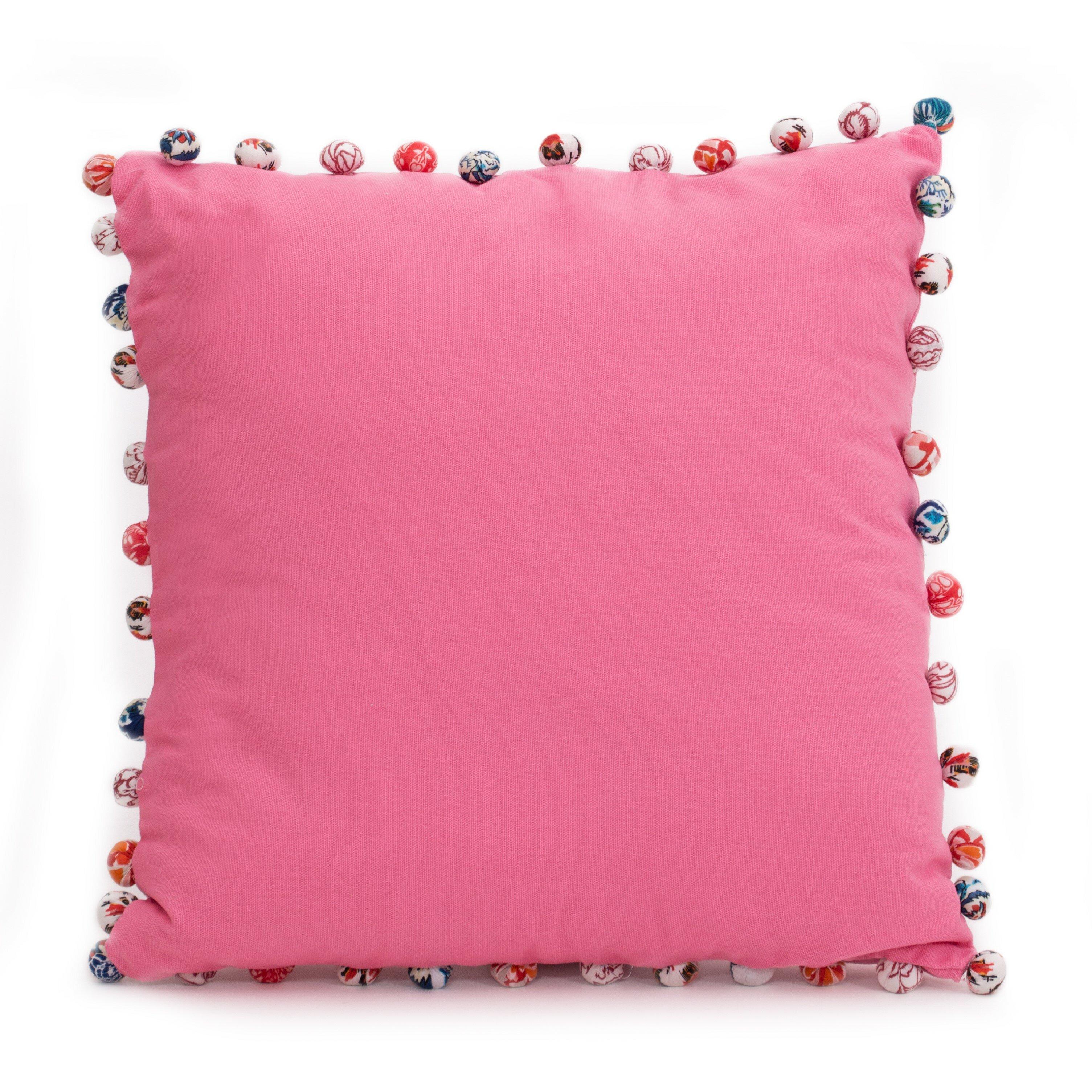 Bay Isle Home Blythe Pompoms 100 Cotton Pillow Cover Wayfair