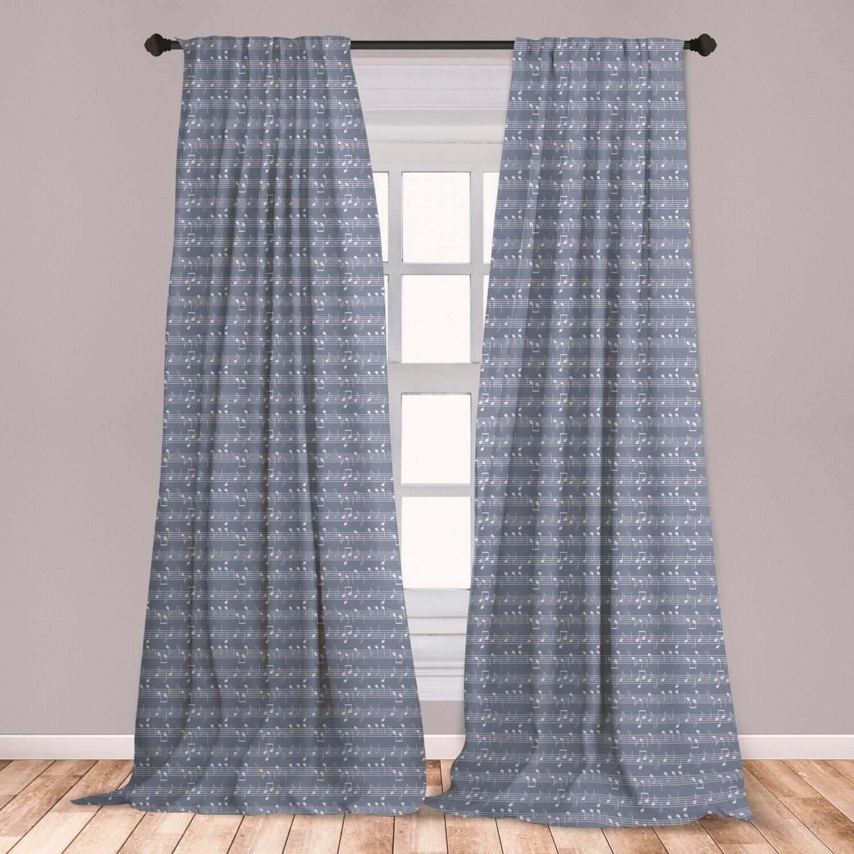 East Urban Home Piano Music Room Darkening Rod Pocket Curtain Panels Wayfair