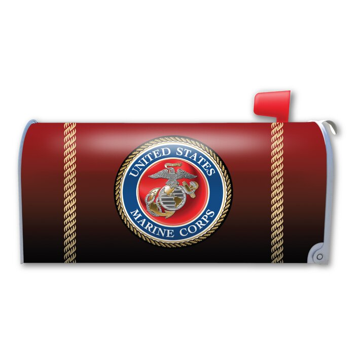 USMC Seal Magnetic Mailbox Cover