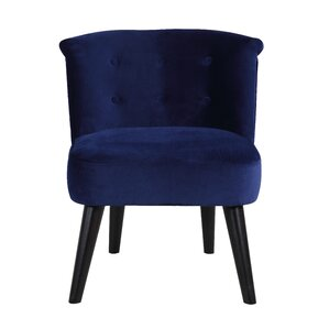Crosier Plush Barrel Chair by Varick Gallery