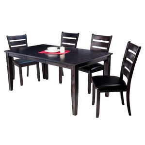 Haan Traditional 5 Piece Dining Set with Ladder Back Chair by Red Barrel Studio