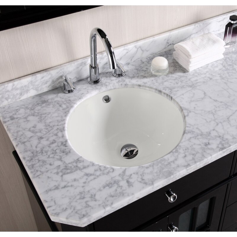 American Imaginations Ceramic Circular Undermount Bathroom Sink With Overflow Wayfair
