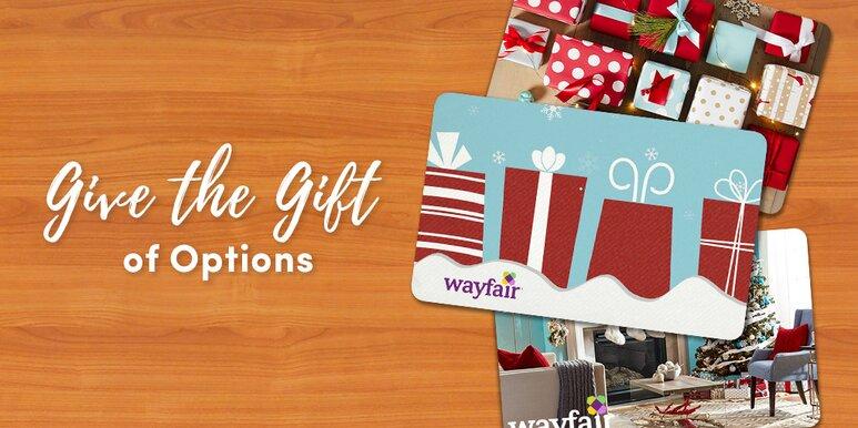 The Wayfair gift card