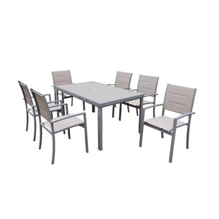 Oakland Living Padded Sling 7 Piece Dining Set