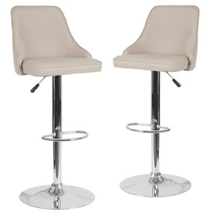 Glencoe Adjustable Height Bar Stool (Set Of 2) by Wrought Studio Great Reviews