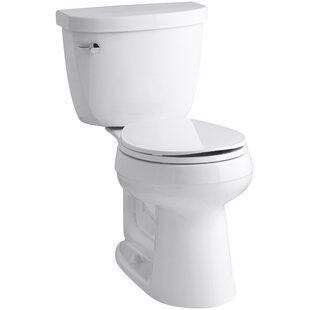 Cimarron Comfort Height Two-Piece Round-Front 1.6 GPF Toilet with Aquapiston Flush Technology and Left-Hand Trip Lever
