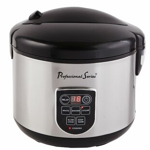 Continental Electric 20 Cup Digital LED Display Stainless Rice Cooker