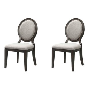 Laurel Foundry Modern Farmhouse Suzann Round Fabric Side Chair (Set of 2)