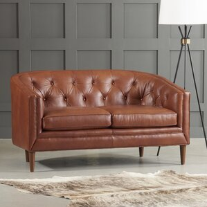 Bedford Leather Loveseat by DwellStudio