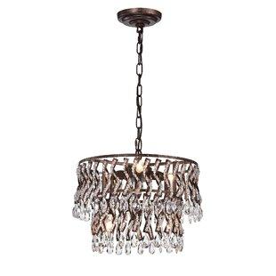 Meneses Metal 6-Light Crystal Chandelier by House of Hampton