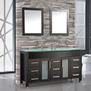 Compare & Buy Prall 63 Double Sink Bathroom Vanity Set with Mirrors By Orren Ellis