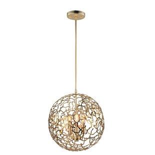 Everly Quinn Aicha 3-Light Globe Chandelier