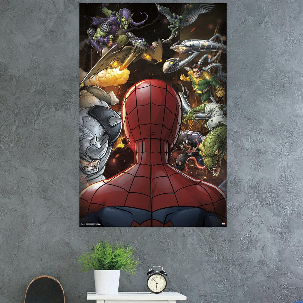Trends International Spider Man Villains Paper Print Wayfair
