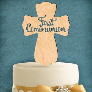 First Communion Cross Cake Topper ByaMonogram Art Unlimited