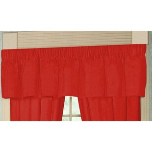 Red - Bright Solid 54 Curtain Valance by Patch Magic