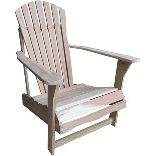 Highland Dunes Hinman Solid Wood Adirondack Chair