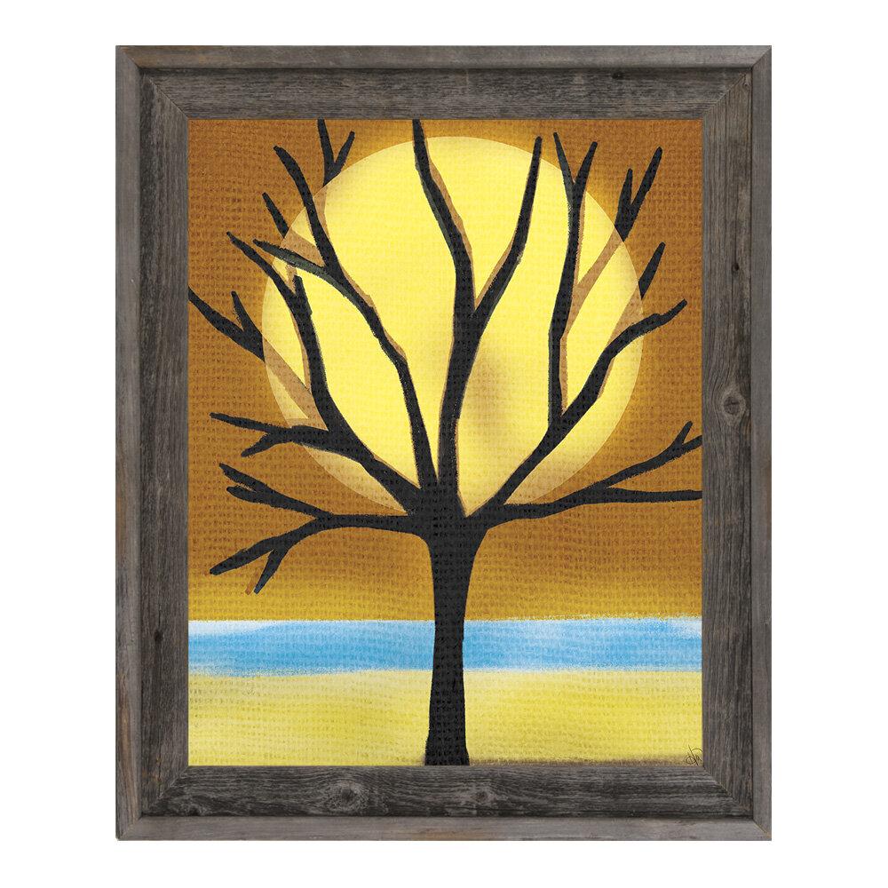 Click Wall Art \'Tree and the Sun\' Framed Graphic Art | Wayfair