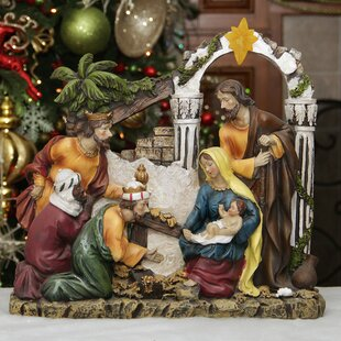 holy family and three kings nativity scene