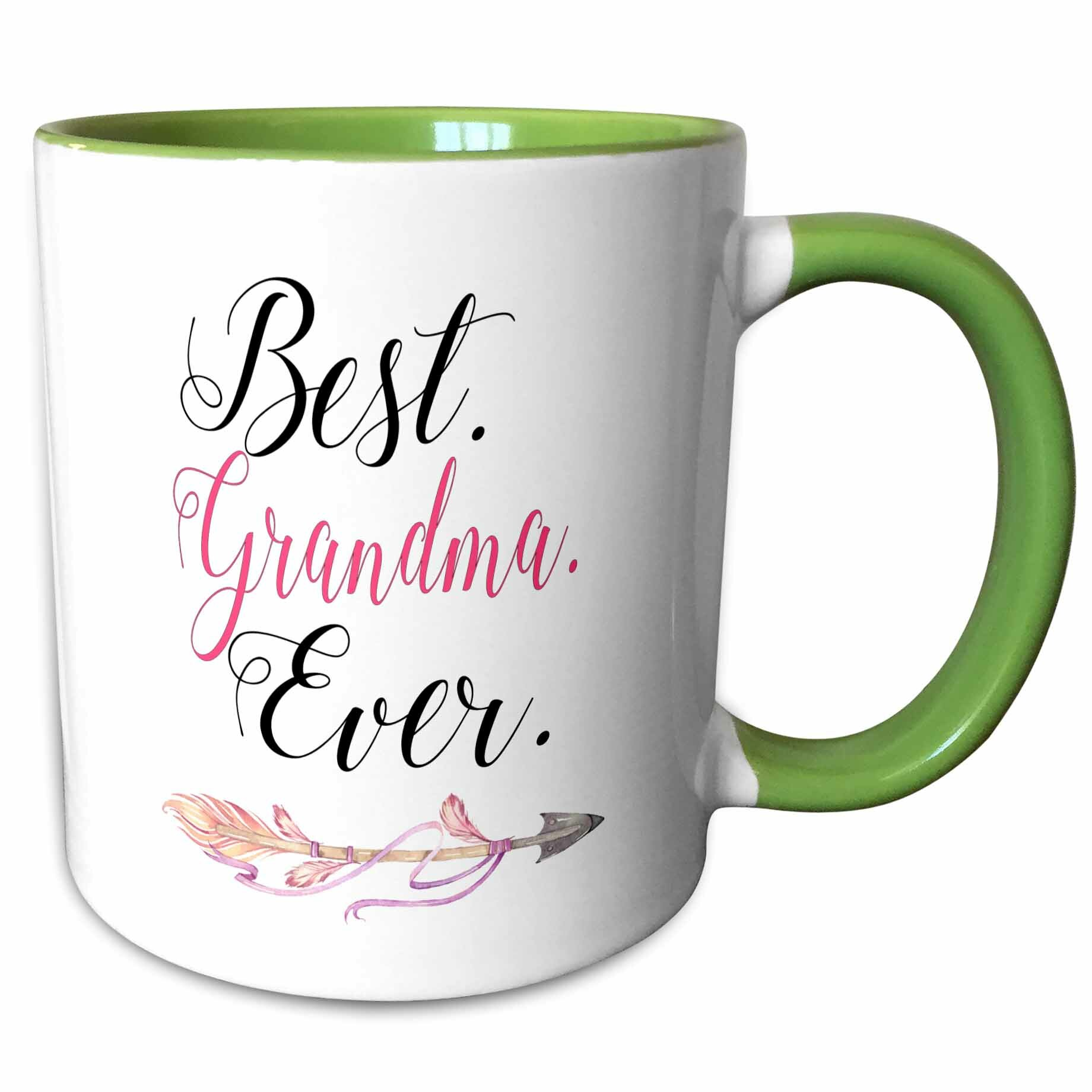 Symple Stuff Dubin Best Grandma Ever With A Pretty Arrow Word Art Coffee Mug Wayfair