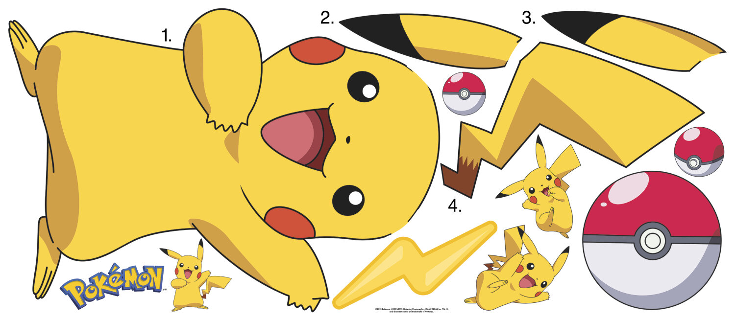Room Mates Pokemon Pikachu Wall Decal | Wayfair