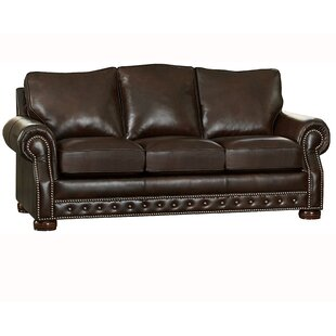 Pelaez Leather Sofa Bed