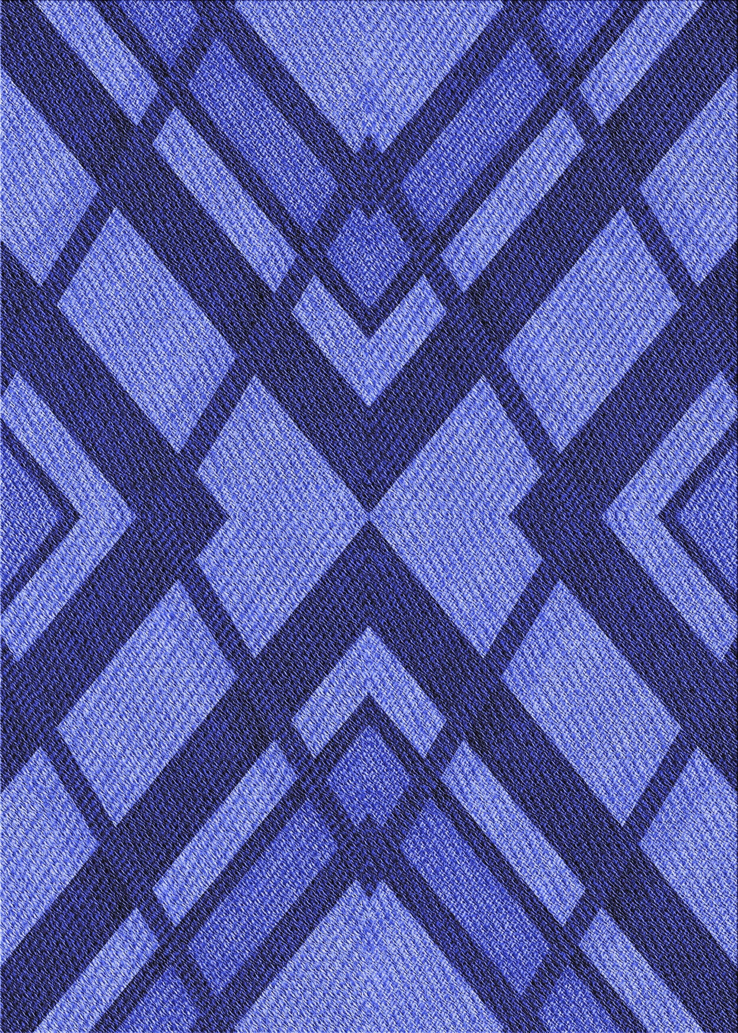East Urban Home Kilgore Geometric Wool Blue Area Rug Wayfair