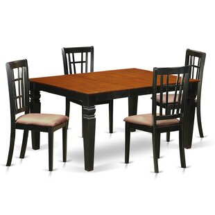 Bellagio 5 Piece Dining Set by Darby Home Co