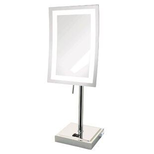 Delightful Lighted Tabletop Vanity Mirror | Wayfair