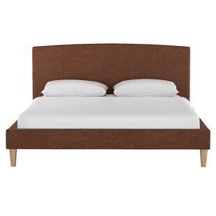 Kermit Faux Leather Platform Bed