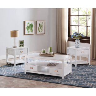 Winston Porter Groce 3 Piece Coffee Table Set