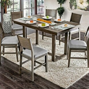 Chantay Rectangular Counter Height Solid Wood Dining Table by Gracie Oaks