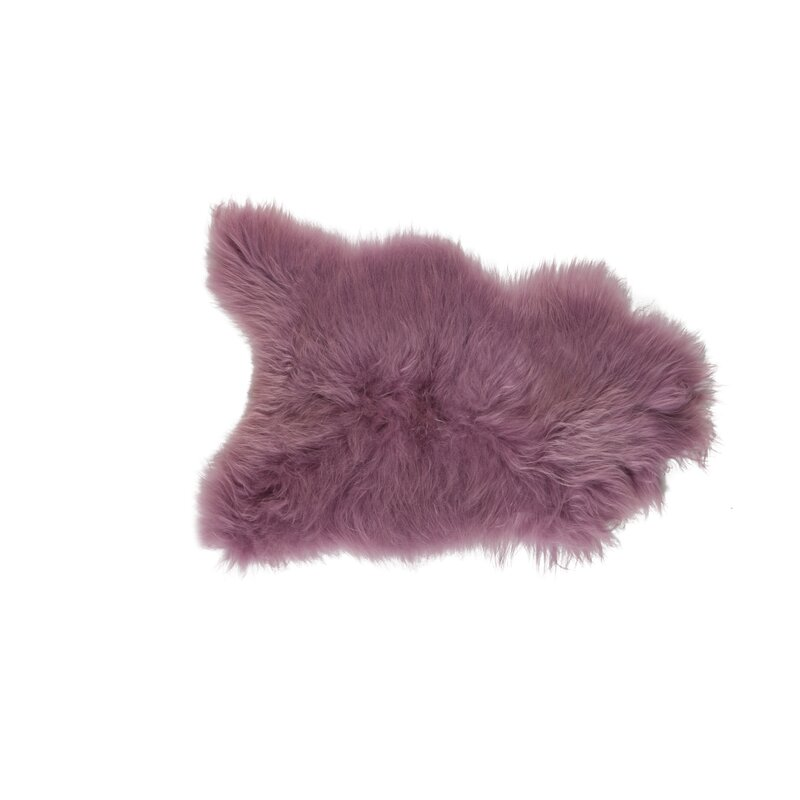 Sheepskin Dark Pink Rug Wayfair Co Uk