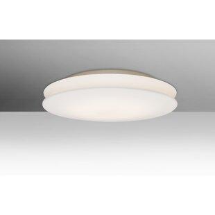 Latitude Run Carnelian 1-Light LED Flush Mount