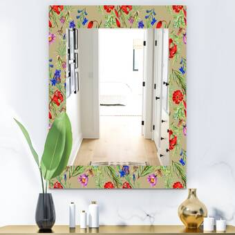 East Urban Home Marbled Diamond Traditional Accent Mirror