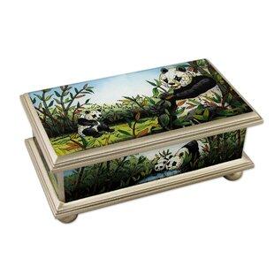 Purchase Reverse Painted Happy Panda Family Jewelry Box ByBloomsbury Market