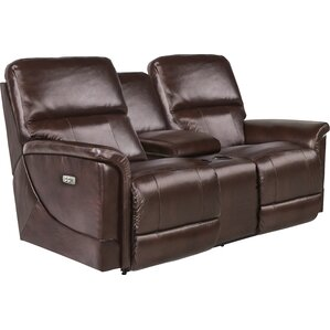 Oscar Power Reclining Loveseat with Console by La-Z-Boy