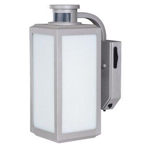 Satin nickel outdoor wall lighting youll love wayfair save to idea board workwithnaturefo