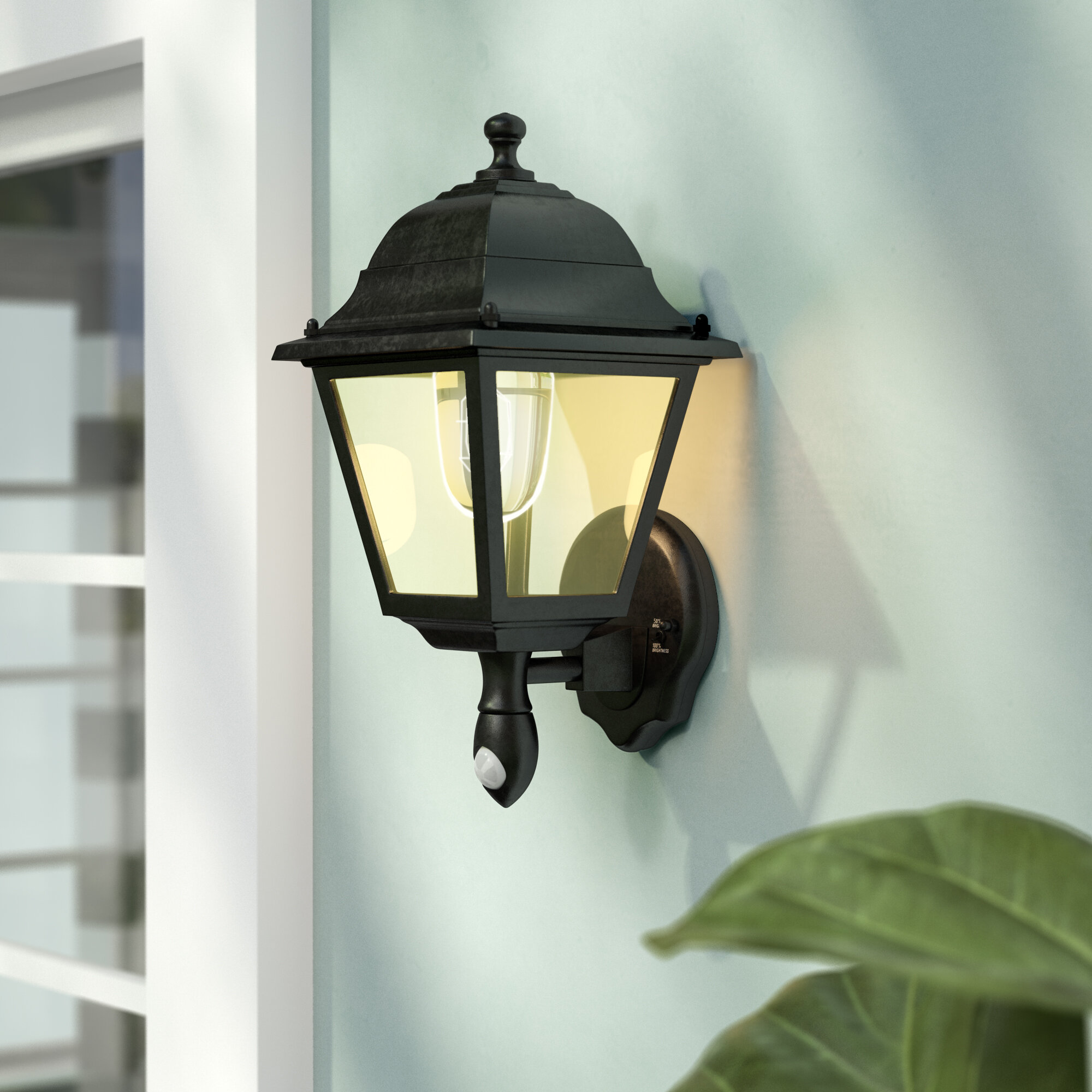 Image of: Decken Wandleuchten Led Wall Sconce Battery Powered Cool White Light Metal Glass Outdoor Porch New Fiscleconsultancy Com