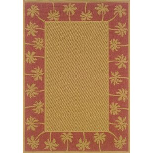 Barham Beige/Red Indoor/Outdoor Area Rug