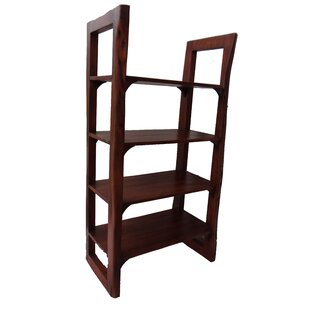 Jakarta Wooden Open Etagere Bookcase by World Menagerie New