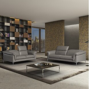 Find a France Leather Configurable Living Room Set by Orren Ellis Reviews (2019) & Buyer's Guide