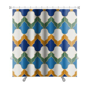 Gamma Islamic Geometric Premium Single Shower Curtain