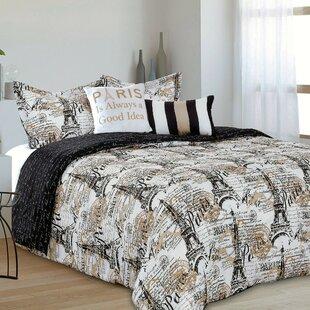 Edwardo Chic Paris Reversible Comforter Set
